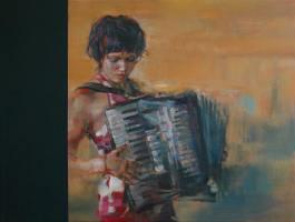 Han with accordion Shaun Ferguson