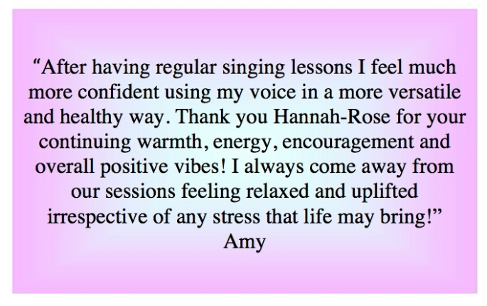 Amy S Vocal Testimonial